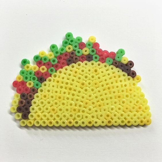 perles hama beads dinette food tacos