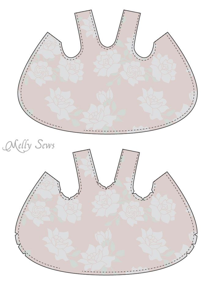 Step 1 - Criss Cross Pinafore Dress with Bloomers - FREE Sewing pattern sizes 0-3m - Melly Sews