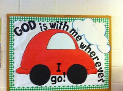 God is with me-Summertime bulletin board