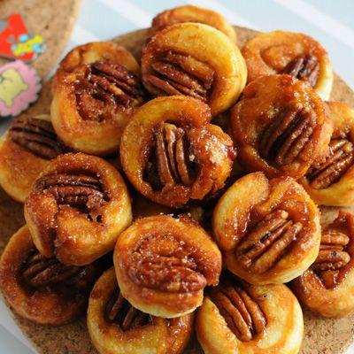 Sticky Pecan Bites: Desserts, Sticky Pecans, Pecans Bites, Yummy Food ...
