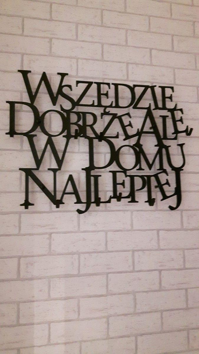 Wszędzie dobrze ale w domu najlepiej - wieszak na ubrania art-steel.pl #wieszak #ubrania #przedpokój #ściana #dom #home #dekoracja #pomysł #prezent #ozdoba #Artsteel