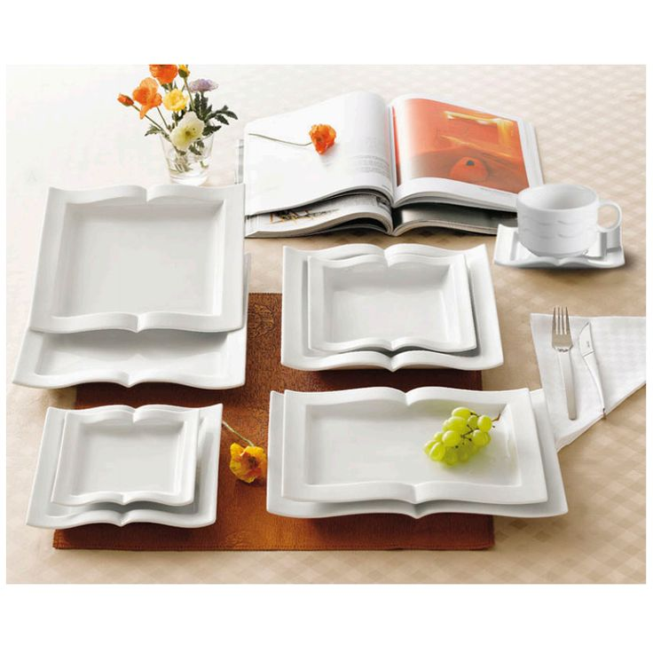 Book-shaped plates?! Need these in my life. Stat. | via gonereading.com