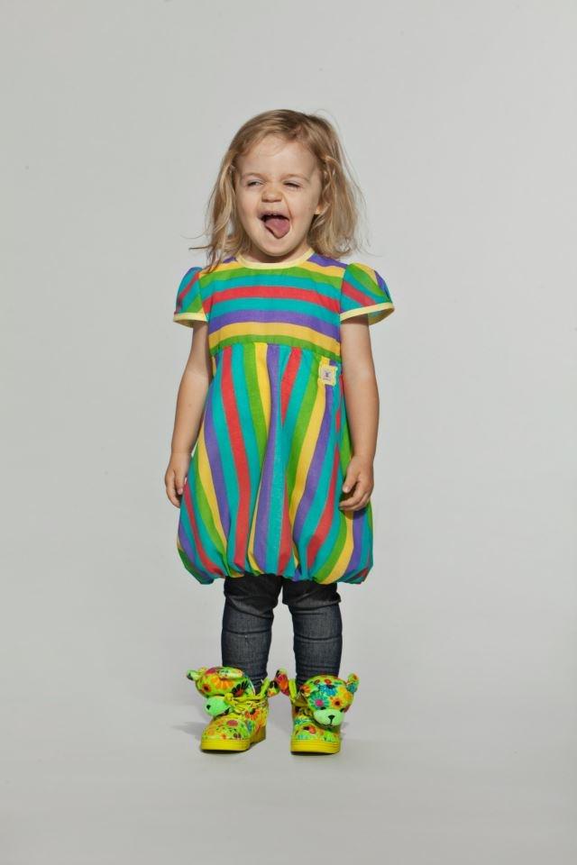 Puffi Dress- Rainbow