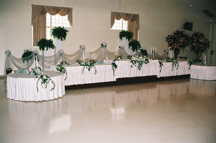 How To Set Up A Wedding Reception Buffet Head Table For
