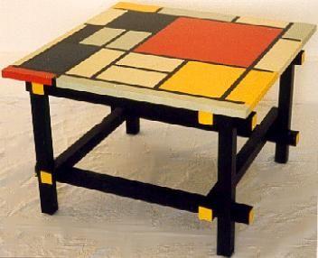 Gerrit rietveld piet mondrian de stijl painted coffee sofa lamp tables furniture pinterest - Sofa stijl jaar ...