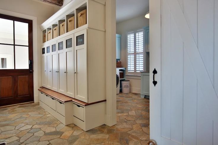 Mud room lockers mud rooms and lockers on pinterest for Open lockers for mudroom
