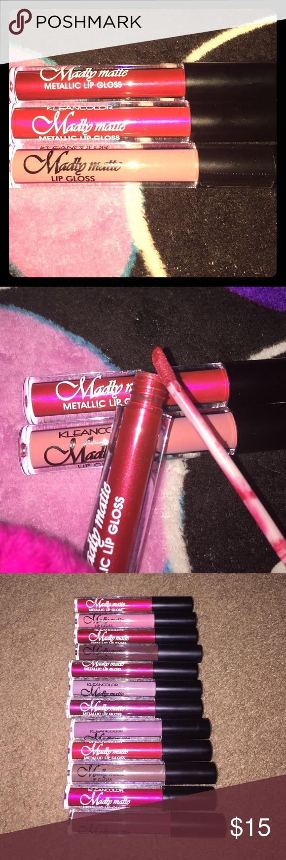 Lip gloss Three different colors. Matt Many colors. Makeup Lipstick