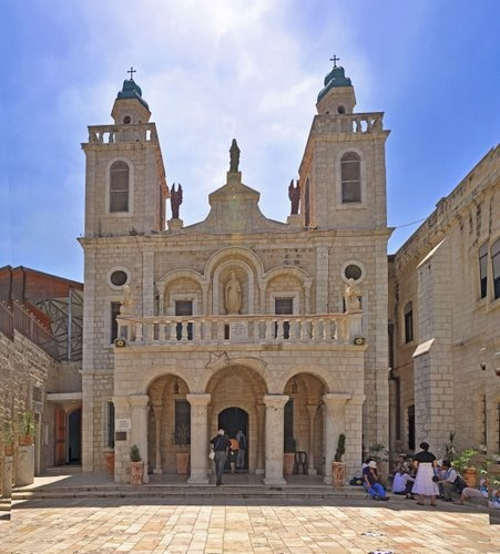 "The ""Wedding church"" in Cana, Israel                   Where Jesus turned water into wine."