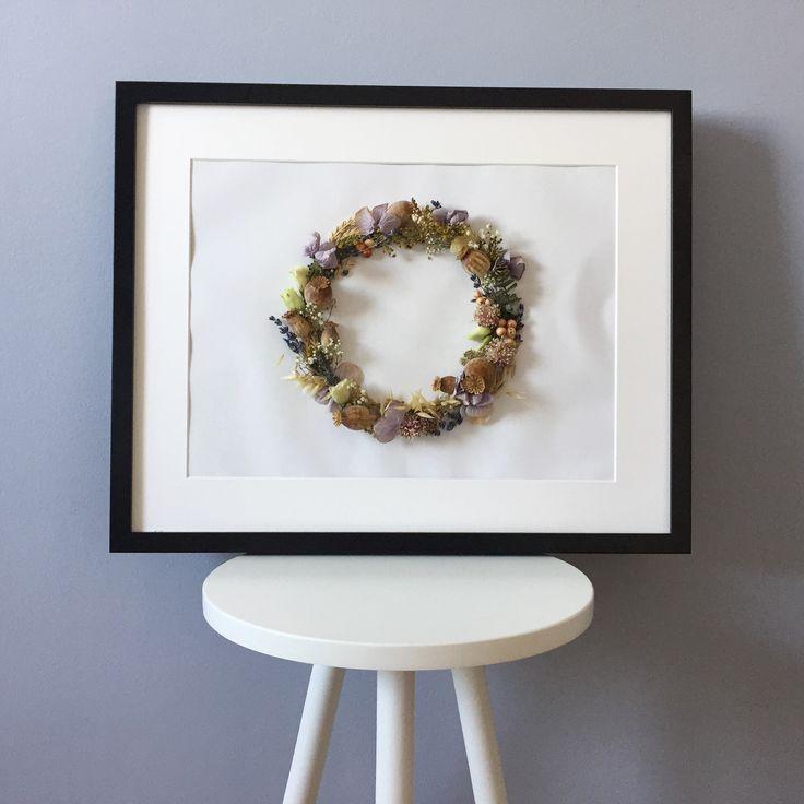 3D obraz so sušenými kvetmi :)