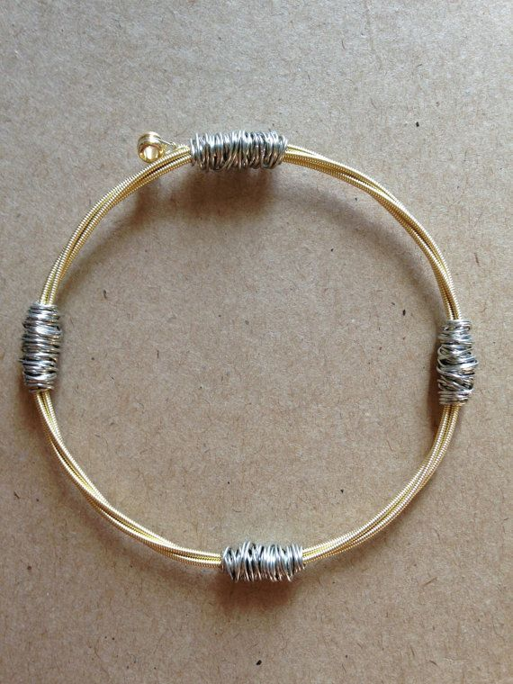 Guitar string bangle guitar string bracelet by ChapterIIICreations, $15.00