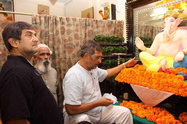 nice Mahesh Manjrekar visits Nana Patekar's Ganpati Festival