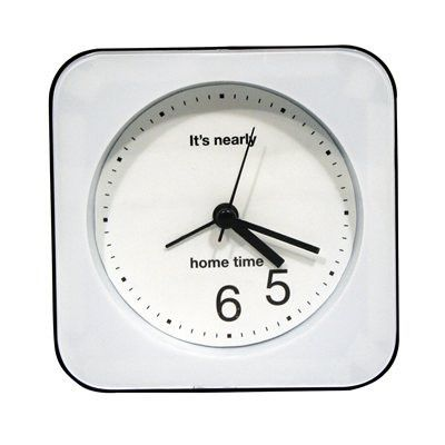 The Optimistic Desktop Clock may not be able to make time go faster but it will help you focus on the only two digits on the clock which matter - 5 and 6 meaning 5.30pm or, most importantly, home time! 19.95$CAD @ www.opuszone.com
