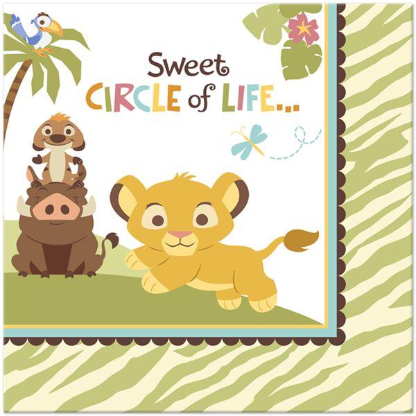 Baby Lion King U0027Sweet Circle Of Lifeu0027 Lunch Napkins
