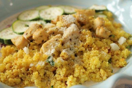 Kasza jaglana z cytrynowym kurczakiem | W Krainie Smaku