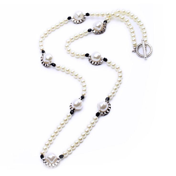 "Clo Clo London - Sheila. Pearl opera necklace High polish finish Length: 98cm (38.6"")"