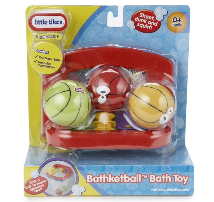 LITTLE TIKES BATHKETBALL . Make bath time a Slam Dunk with this amazing bathketball set! Suction cups hold the basket securely to the wall. #littletikes #planetfunnz #toysfortoddlers #bathtime #planetfun