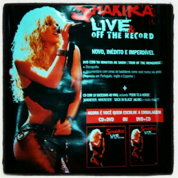 Pôster - Shakira Live & off the record
