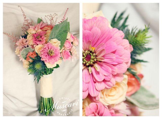 pastelowy letni bukiet ślubny