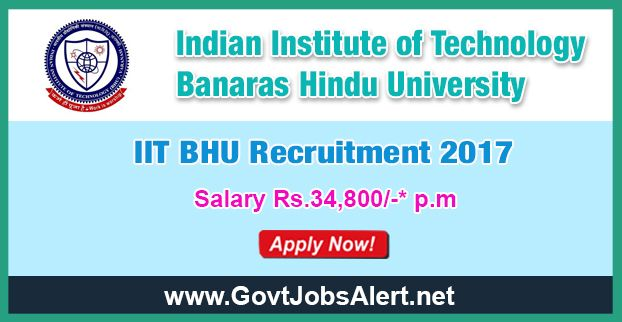 IIT BHU Recruitment 2017 - Hiring Security Officer and Stenographer Posts, Salary Rs.34,800/- : Apply Now !!!  The Indian Institute of Technology Banaras Hindu University – IIT BHU Recruitment 2017 has released an official employment notification inviting interested and eligible candidates to apply for the positions of Security Officer, Senior Stenographer (English) and Stenographer (English). The eligible candidates may apply online through the official website (given be