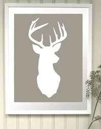 deer head silhouette with rose - Google Search