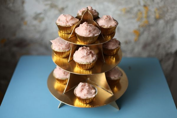 Cupcake stand made from cardboard