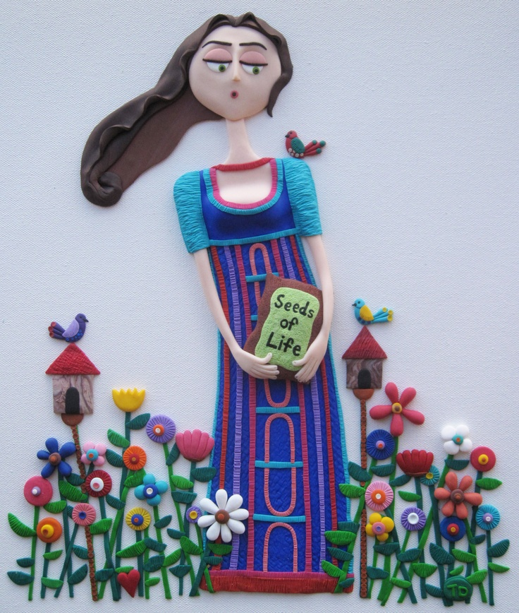 Seeds of Life  Polymer clay art by Tammy Durham