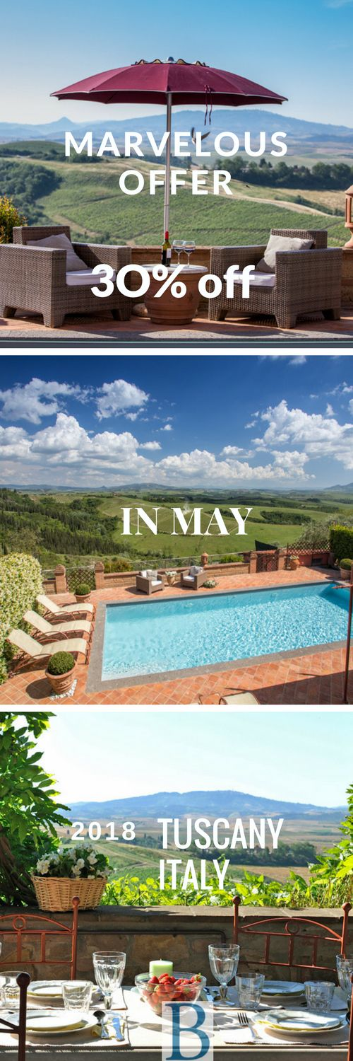 Need to book a splendid luxury villa in Tuscany pretty soon? Indulge you stay in this lovely home with 30% discount during month of May 2018.