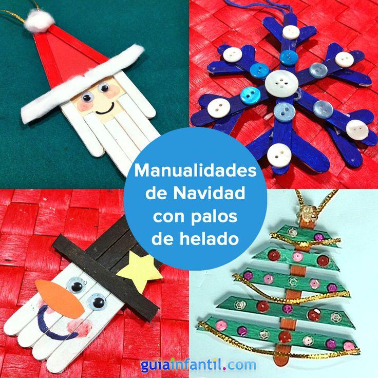 Manualidades de navidad con palitos de helado para ni os - Manualidades faciles navidad ninos ...