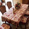 Скатерти чехлы на стулья моды роскошь скатерть подушка набор королевский качество обеденный стол ткань