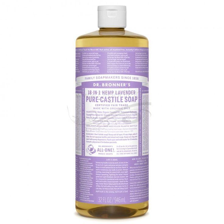 Săpunul magic 18-în-1 cu Lavandă, de la Dr. Bronner, conține 40% săpun și este îmbogățit cu uleiuri naturale de cocos, jojoba și cânepă. Astfel, acesta poate fi folosit atât pentru igiena personală, cât și în gospodărie, având un total de 18 întrebuințări.  #sapun #magic #organik