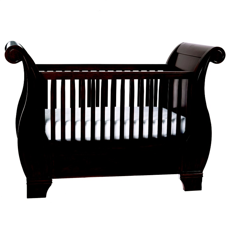 Pottery Barn Kids Larkin Fixed Gate Sleigh Crib Green