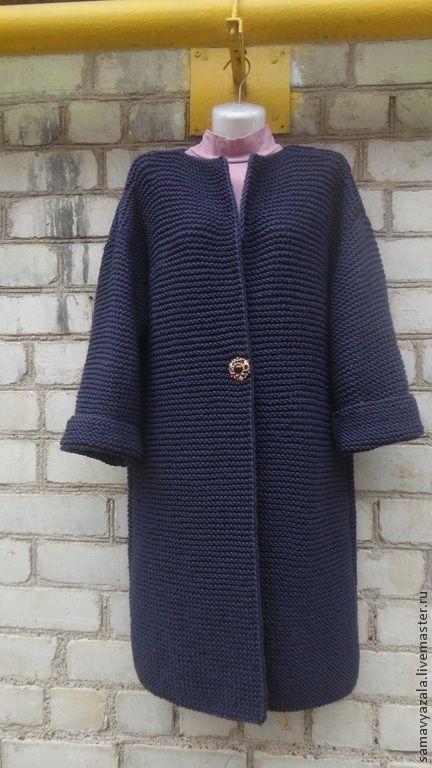 INSPIRATION..Купить Кардиган вязаный. БАКЛАЖАН - тёмно-фиолетовый, пальто, кардиган, кардиган вязаный, кардиган женский
