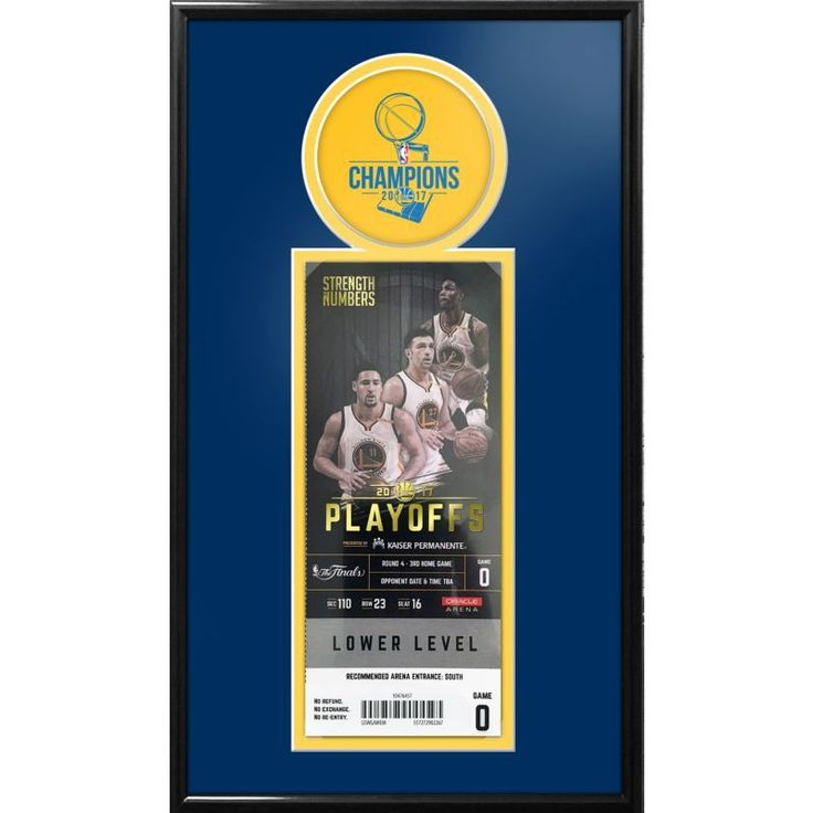 That's My Ticket 2017 NBA Finals Champions Golden State Warriors Single Ticket Frame, Team