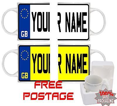 #Personalised registration #plate car gift mug cup #licence #plate number #plate jo,  View more on the LINK: 	http://www.zeppy.io/product/gb/2/151815497387/