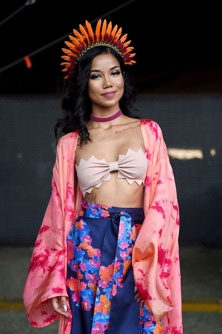 2016 Coachella Photos: Jhené Aiko backstage during day 1 of the 2016 Coachella Valley Music & Arts Festival Weekend 2 at the Empire Polo Club on April 22, 2016 in Indio, Calif.
