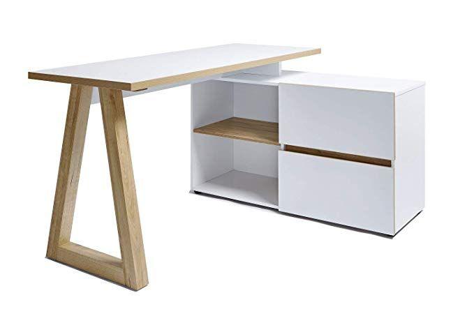 Movian Bureau D Angle De Style Scandinave A 2 Tiroirs Amazon Fr Cuisine Maison Bureau Angle Tiroir Et Cuisines Maison