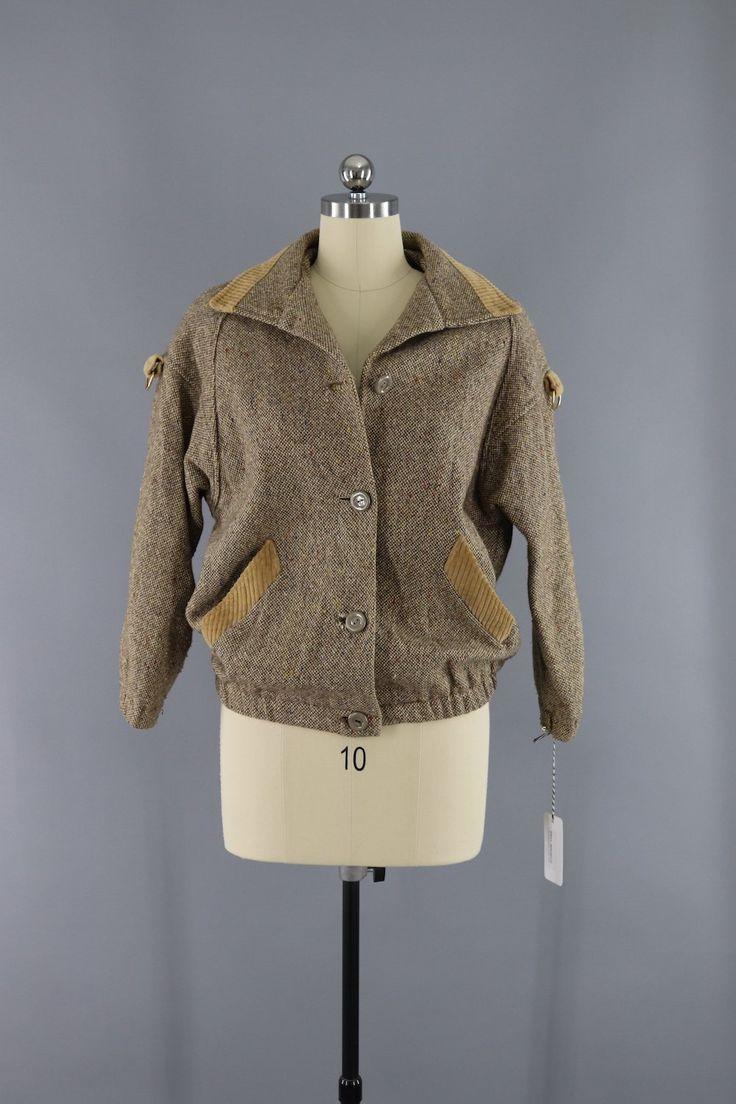 Vinage Confetti Tweed Wool Bomber Jacket / Snugkoat England  #vintage #shopvintage