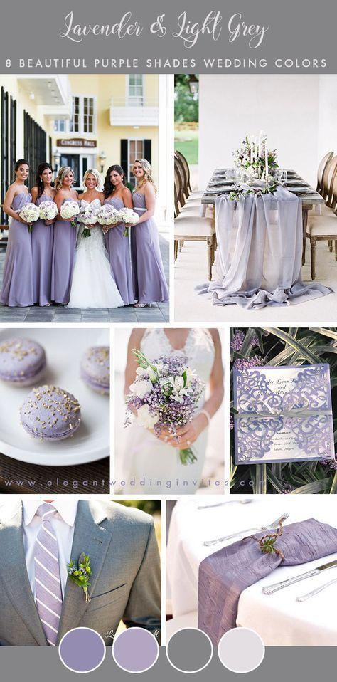 8 Stunning Wedding Colors In Shades Of Purple Wedding Wedding