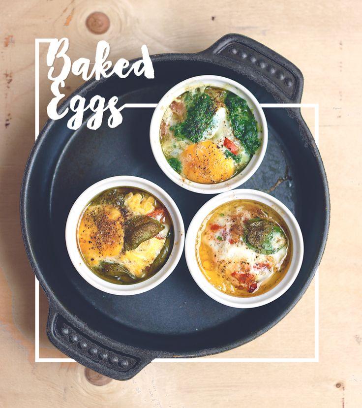 Bakade Ägg Recept med Spenat & Soltorkade Tomater