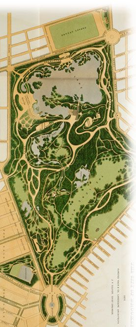 Prospect Park, Brooklyn NY. Olmsted Plan.with Adelle Waldman in The Love Affairs of Nathaniel P.