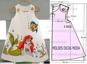 http://moldesdicasmoda.com/molde-vestido-de-crianca-sereia-31/ #children #dresses #kidsfashion #patternmaking #patrones #moda #couturefashion #couturedress