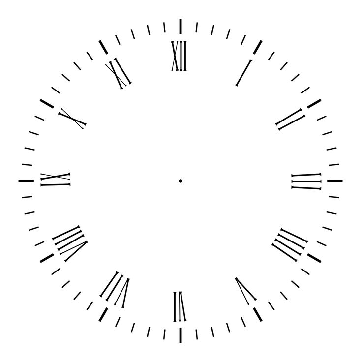 Printable Clock Face without Hands | Clock Face 2 by AGF81