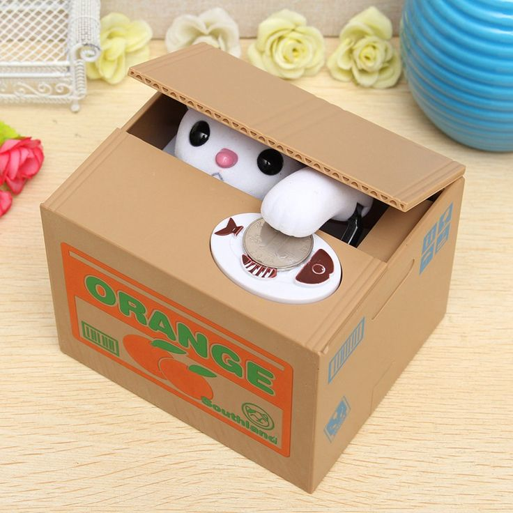 Lovely Cute Funny Novelty Little Animal Steal Coins Piggy Bank Cent Saving Box Pot Case For Best Birthday Gift For Kids