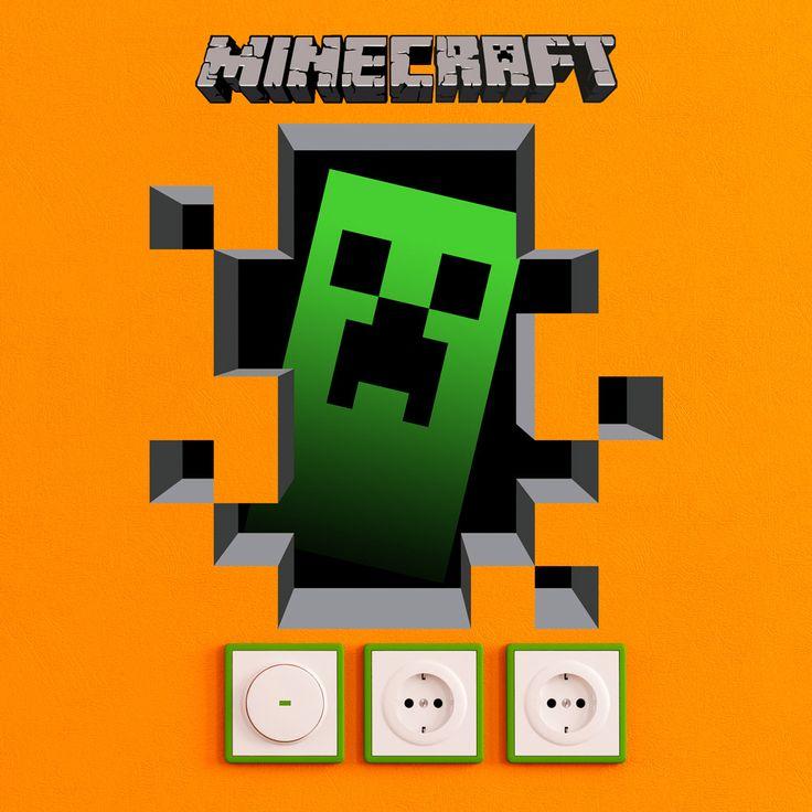 Minecraft 3D 1 - VINILOS DECORATIVOS