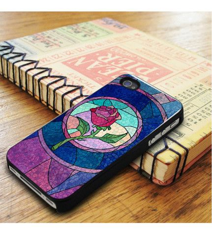 Disney Princess Beauty And The Beat Rose Stained Glass iPhone 5|iPhone 5S Case
