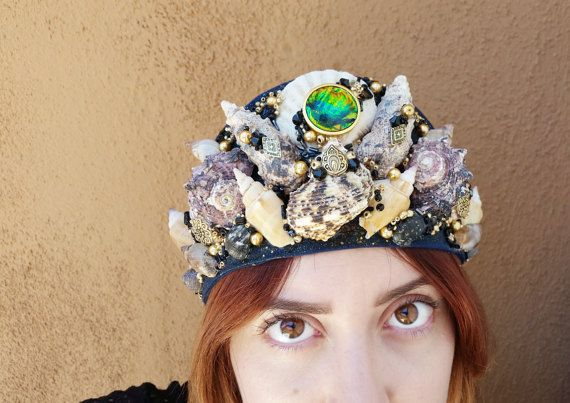 Hey, I found this really awesome Etsy listing at https://www.etsy.com/listing/464754387/mermaid-crown-sea-witch-black-majic-sea