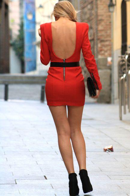 Open back dress YEAH!