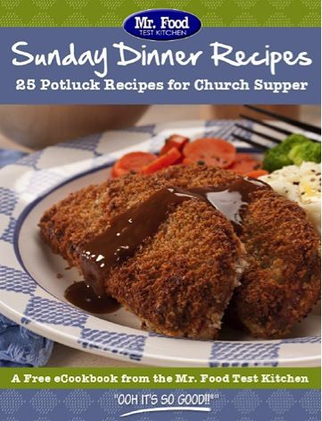 FREE e-Cookbook: 25 Sunday Dinner Recipes! #recipes