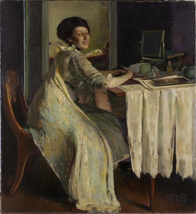 Krzyżanowski, Konrad, Portret Emilii Wysockiej 1913 | Zbiory on-line Muzeum Sztuki w Łodzi