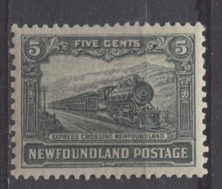 Newfoundland #149 5c Slate Green 1928 Publicity Comb Perf.13.5 x 12.75 VF-75 LH